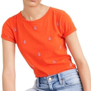 NWT J. Crew Embroidered Anchor T-Shirt